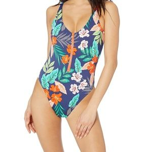 NWOT  $59  HOBIE SMALL HIBISCUS JUNGLE  ONE PIECE